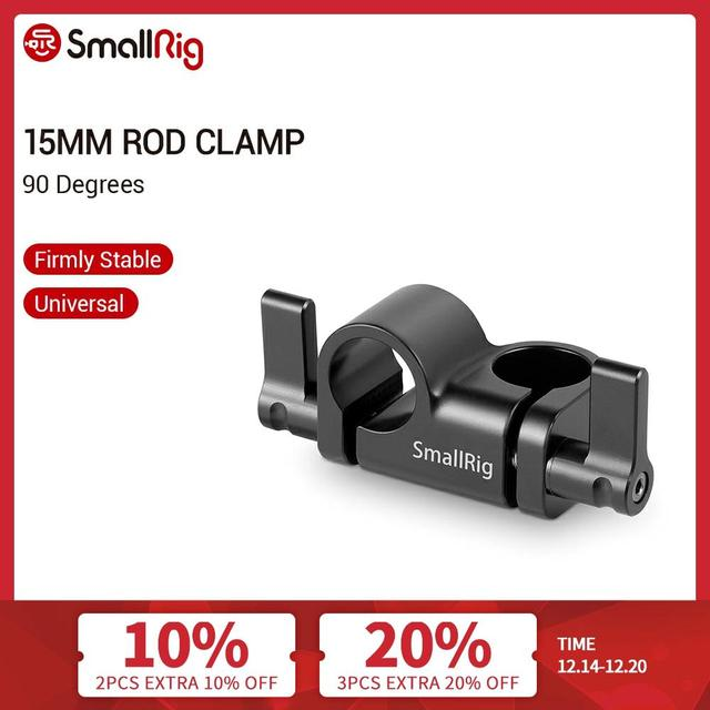 SmallRig 15mm Rod Clamp 90 Degree for Camcorder Video DIY Camera 15mm Rail Clamp Rigs Shoulder Mounting Accessories   2069