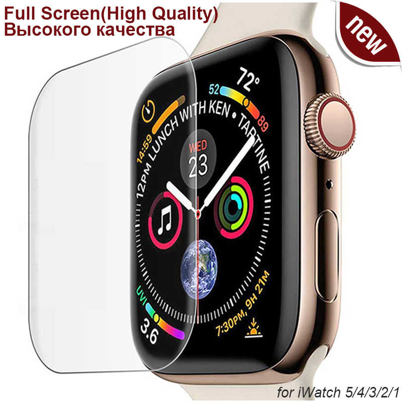 Protector de pantalla ultrafino 3D curvado suave para Apple Watch Series 5 4 para iWatch 38 40 42 44mm sin vidrio