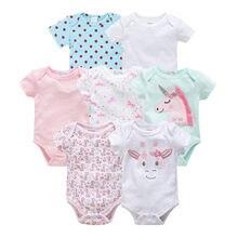 7 шт./лот, комбинезон для маленьких девочек и мальчиков, roupas de bebe recien nacido, Одежда для новорожденных девочек 3, 6, 9, 12 месяцев