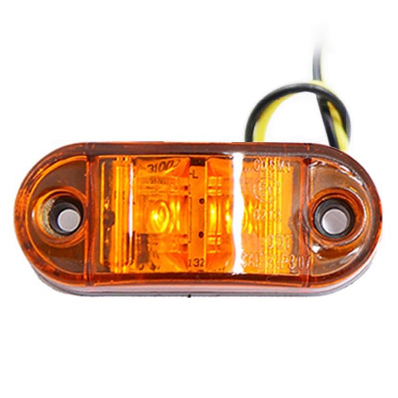 8 pcs LED 12V ORANGE AMBER SIDE MARKER LAMP LIGHT INDICATOR TRUCK LORRY OUTLINE