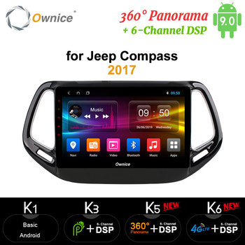 """Ownice 10.1"""" Octa Core Android 9.0 4G RAM Car DVD GPS Navi Player carplay for Jeep Compass 2017 DVR 4G DSP 360 Panorama Optical"""