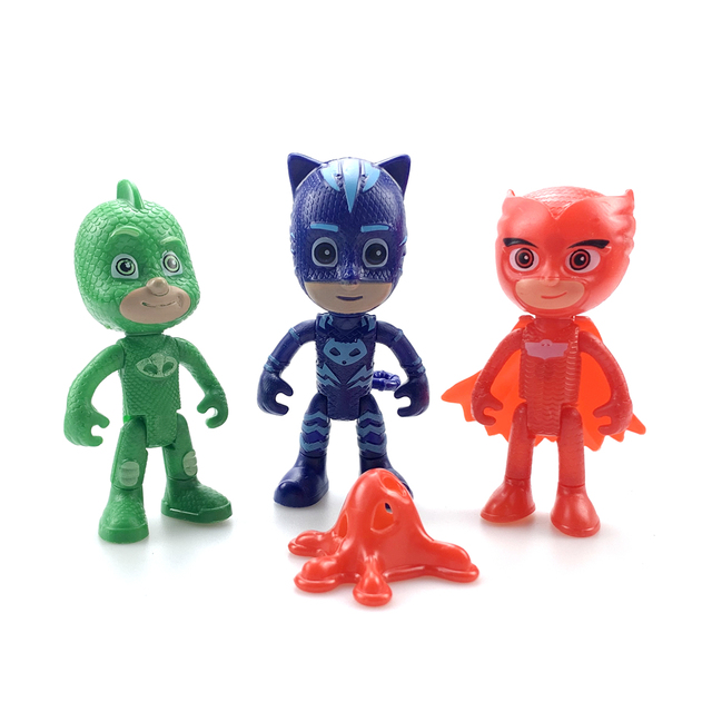 PJ Masks toys Pajamas Masked Juguete Heroes Small Kids Cat Owl PVC Action Figure Child Boys Girls Parking Set Toys For ChildrenAction & Toy Figures