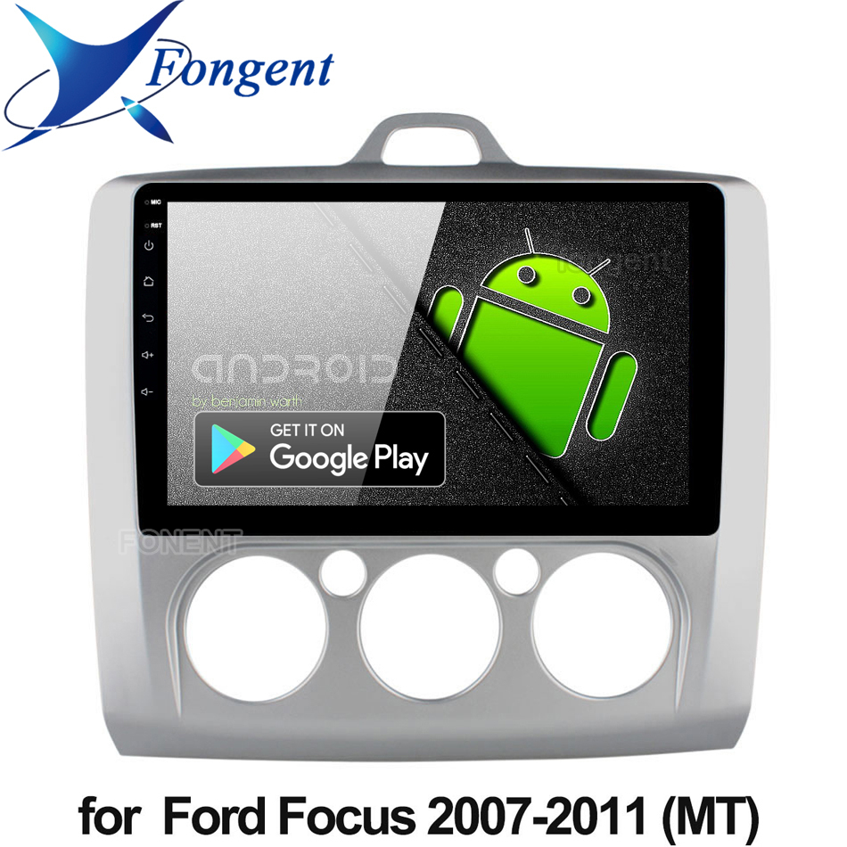 9 inch Android 9.0 Car Radio For ford focus EXI MT 2 3 Mk2 2004 2005 2006 2007 2008 2009 2010 2011 Stereo GPS Multimedia Player image