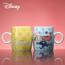 Disney Porcelain Cup 300 Ml Cute Mugs with Covered Spoon Cartoon Mug Mad Animal City Genuine Water  Coffee Christmas