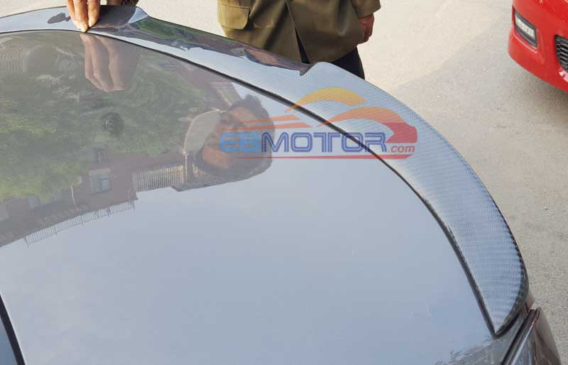 Real Carbon Fiber V Style Trunk Spoiler For BMW 3-Series F30 F80 M3 4D Sedan 2012UP B244 image
