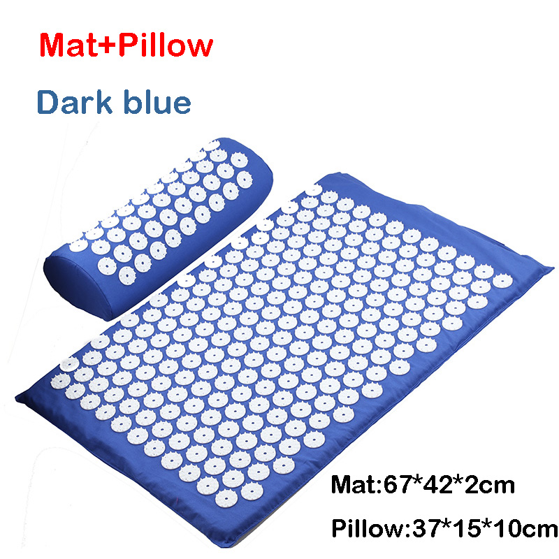 D blue mat pillow