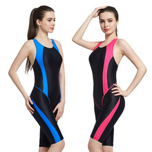 Quick Dry Swimsuit Professional Knee Length Swimwear Women One Piece Sport Swimsuits Sexy With Pad Swimming Suit For Women one piece baths women s swimsuits swimsuit sport women maios for beach 2018 new sexy ladies solid polyester sierra surfer