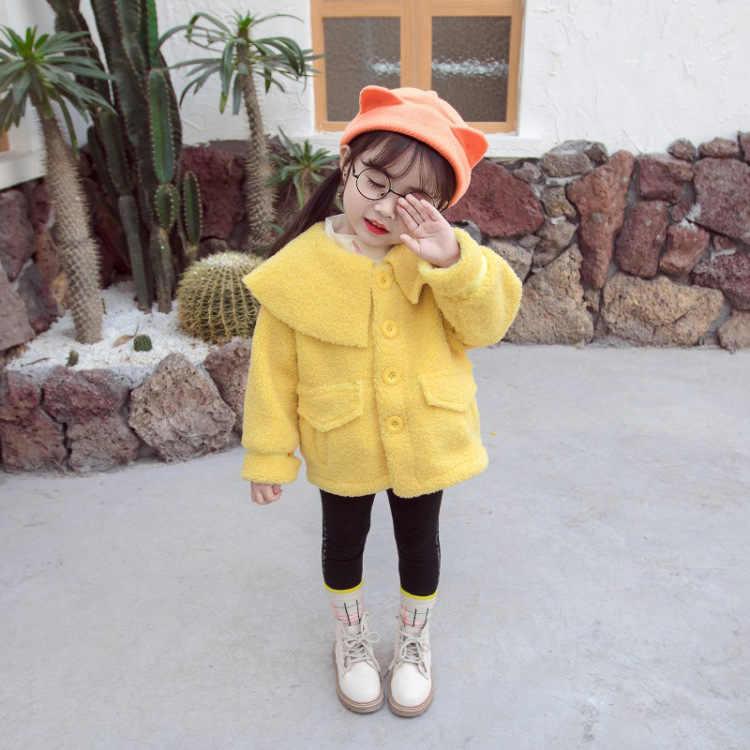 2020 Childrenswear Spring New Products Women's Large Fur Collar Berber Fleece Wool Sweater Coat Childrenswear