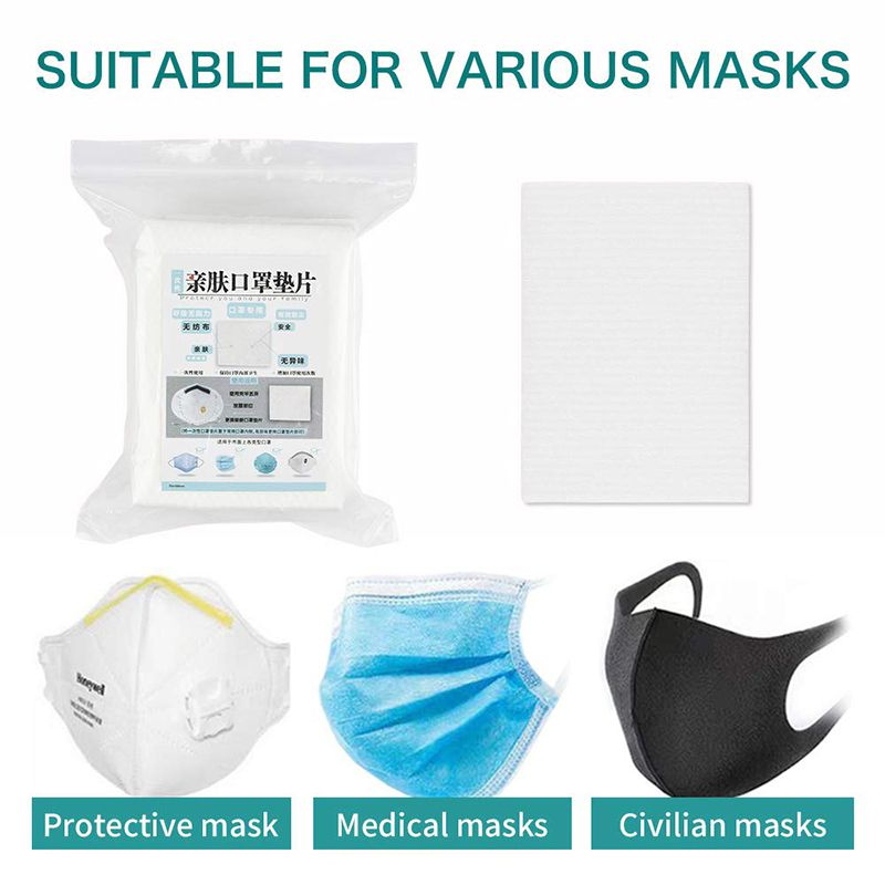 100pcs Disposable Medical Mask Pad Isolation Filter Anti-haze Dustproof Breathable Replacement Cotton Pad