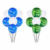 12 pulgadas camuflaje chulo globo de látex azul verde Ballon patrón de animales decoraciones mapa Bola de aire suministros para fiestas, bodas y cumpleaños