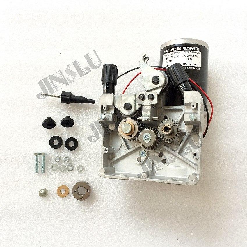 76ZY02A Mig Draht Feeder Motor DC24V 18 m/min 0,8-1,0mm roller mig schweißen draht feeder motor