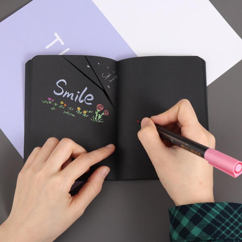 30 Sheets 56K Notepad Diary Notebook Drawing Painting Graffiti Blank Black Paper Sketch Painting Sketchbook
