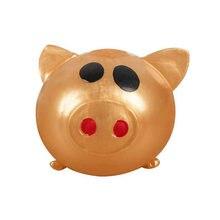 Желейная свинка золотой милый мяч липкая антистрессовая термопластичная