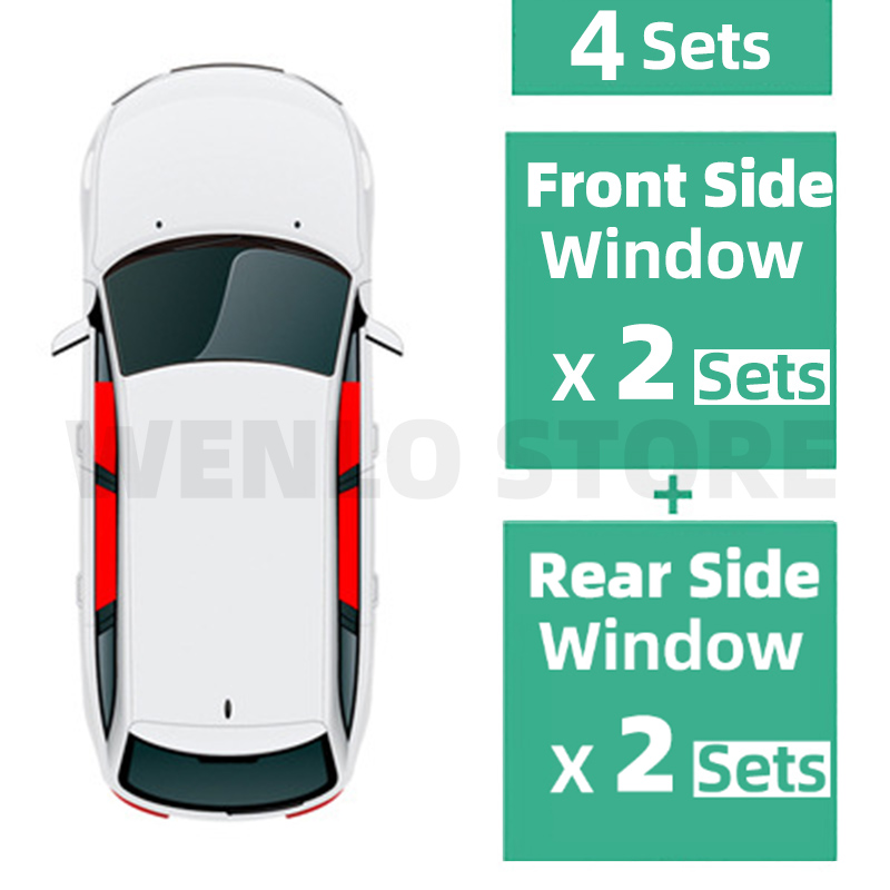 4PCS Magnetic Car Side Window SunShades Cover For Toyota Vois Reiz HIACE SIENTA PICNIC window curtains car accessories in Side Window Sunshades from Automobiles Motorcycles
