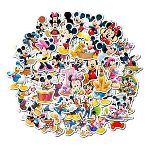 50Pcs Disney Cartoon Anime Mickey Mouse Waterproof Sticker Children's Graffiti Laptop Skateboard Luggage Bicycle Children DIY De