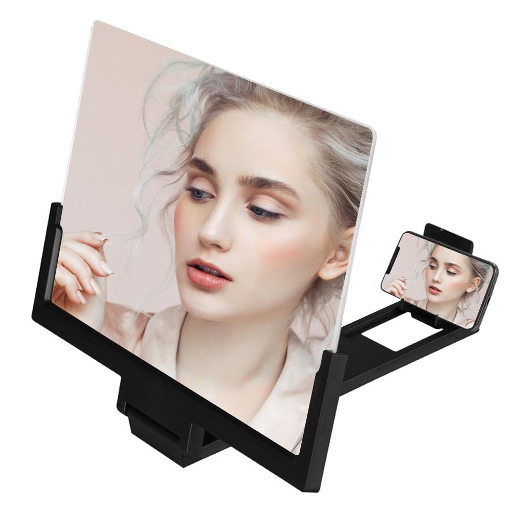 14inch 3D Mobile Phone Screen Magnifier Amplifier Folding HD Video Magnifying Glass Watch 3d Movies Smart Phone Bracket Holder
