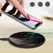 15W Wireless Charger Intelligent Induction Fast Charging Round Mount for Smartphone AS99