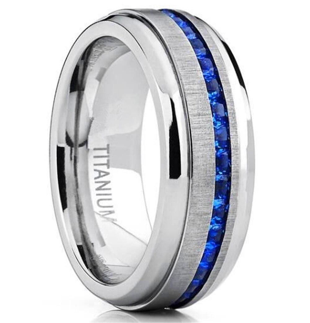 Модное классическое длинное кольцо loreдана 8 мм для мужчин и женщин, ювелирное изделие из нержавеющей стали 316L, обручальное кольцо для мужчин...