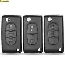 jingyuqin Car Shell Key HU83 CE0536 / 523 para Peugeot 107 207 307 407 308 408 Socio Citroen C3 C4 C5 C6 Berlingo Picasso Xsara