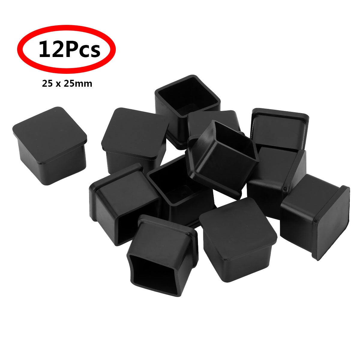 12Pcs Chair <font><b>leg</b></font> caps Covers Square Shaped PVC <font><b>Rubber</b></font> Furniture Foot <font><b>Table</b></font> Chair <font><b>Leg</b></font> End Caps Covers Tips Floor Protectors image