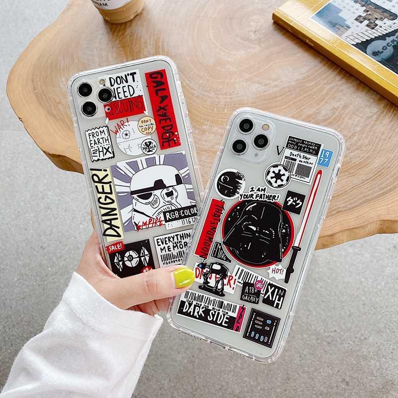 New Tide Brand Kategori Lembut Silicon Ponsel Case untuk Etui iPhone 11 Pro Max SE 2020 6 7 8 Plus X XR X Max Non-Slip Back Cover Coque