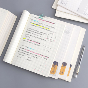 A5 B5 simple style notebook diary book line pages new memo pad grid notebook stationery notepad office accessories school supply