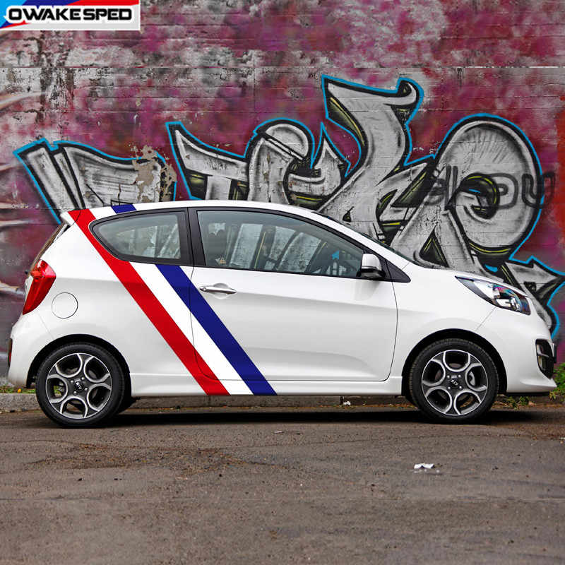 Qwldmj Autoseitenrock Streifen Aufkleber Auto Vinyl Wrap Decals f/ür Kia Picanto Automobile DIY Dekoration Styling Auto Tuning Zubeh/ör