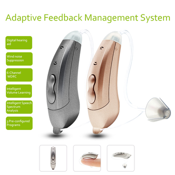 Mini 6-Channel Digital Hearing Aid Sound Amplifiers Wireless Ear Aids for Elderly Moderate to Severe Loss hearing amplifier acosound 430bte digital hearing aid hearing device sound amplifiers small bte hearing aids ear care tools for the elderly
