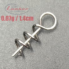 lunker snap hitchhiker assist soft lures baits hook pin spring fixed lock screw dagger tools fishing stainless steel 100pcs rompin 100pcs lot high carbon steel spring lock needle fix worms soft lures pin