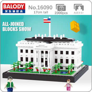 Balody World Famous Architecture USA The White House Building Blocks 3D Model DIY Mini Diamond Blocks Bricks Children Toy Gifts balody world famous architecture usa the white house building blocks 3d model diy mini diamond blocks bricks children toy gifts