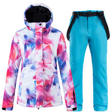 2019 New Thick Warm Ski Suit Women Waterproof Windproof Skiing Snowboarding Jacket Pants Set Female Snow Costumes Outdoor Wear hot sale snow jackets women ski suit set jackets and pants outdoor female single skiing clothes windproof thermal snowboarding