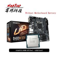 Intel Core i9 10900K ES QTB2 CPU + Gigabyte GA B460M D2V placa base Anzug LGA 1200 CPU + Motherbaord anzug Ohne kühler