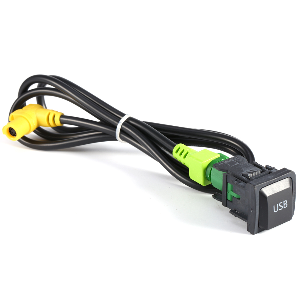 Plastic Metal <font><b>USB</b></font> Switch RCD510 Wire Harness RNS315 RCD510 <font><b>USB</b></font> Switch Cable for <font><b>VW</b></font> MK6 <font><b>Golf</b></font> 6 Scirocco for Jetta r26 image
