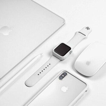 Pokrowiec na zegarek do zegarka Apple 4 5 44mm 40mm 42mm 38mm iWatch 5/4/3/2/1 ochraniacz zderzaka odporna na zarysowania obudowa odporna na zarysowania