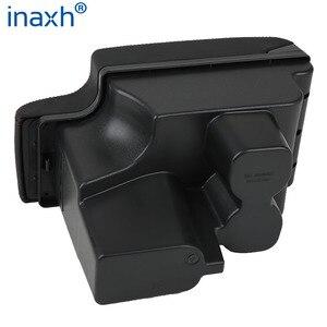 Image 3 - For Toyota Hilux Armrest box Retrofit parts Interior Car Armrest Storage box Holder Ashtray accessories USB LED