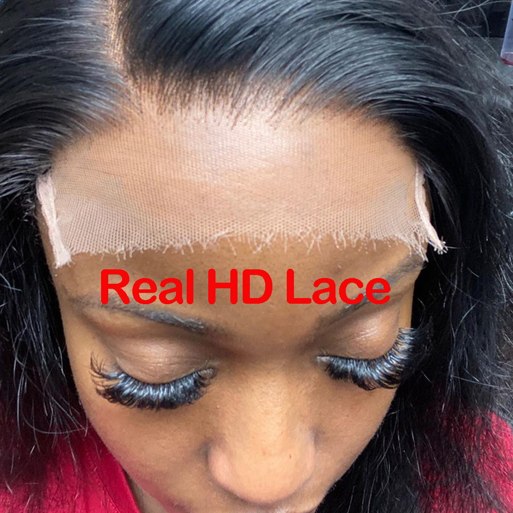 4x4 HD Lace Closure With Baby Hair Brazilian Straight Human Hair Closure Bleached Knots Transaprent Lace Closure HD Closure