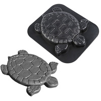 Turtle Path Mold Concrete Decorative Stepping Stone Pavement Mold Plastic Cement Manually Paving Molds Road Making Tool