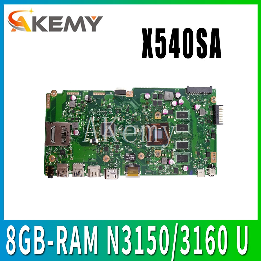 NEW X540SA laptop mainboard REV 2.0 For <font><b>ASUS</b></font> <font><b>X540</b></font> X540S X540SA X540SAA laptop <font><b>motherboard</b></font> Test ok 8GB-RAM N3150/3160 CPU image