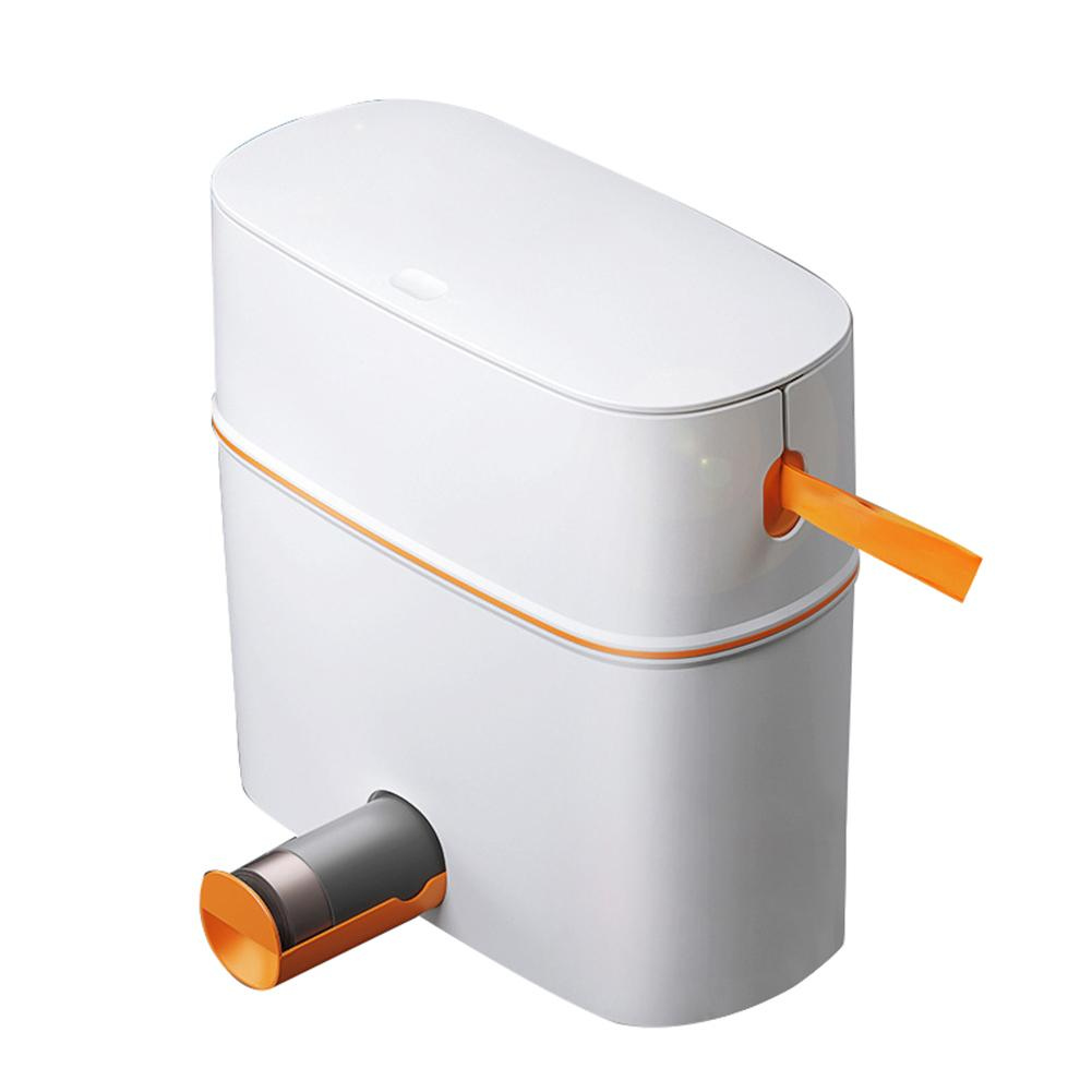 Kitchen Trash Can With Lid Portable Automatic Packing Waste Bin For Kitchen Toilet Bathroom Living Room Waste Bins    - AliExpress