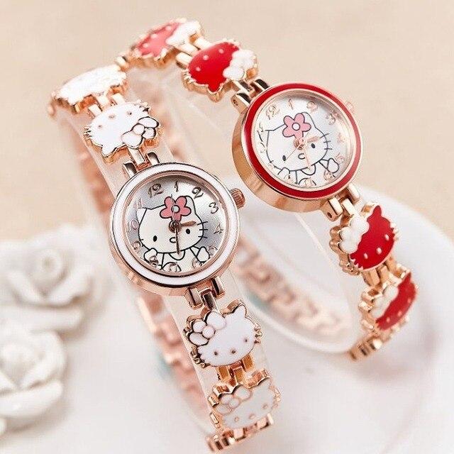 2019 nova reloj crianças relógios para meninas dos desenhos animados adorável pulseira estudante menina relógio de quartzo presente aniversário alta qualidade 2