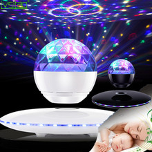 Magnetic Levitating floating Bluetooth Speaker Wireless 360rotating led effect lights night light fashion gifts home decorations unique design wireless bluetooth levitating speaker 360 degrees surround sound led light floating speaker for smartphones