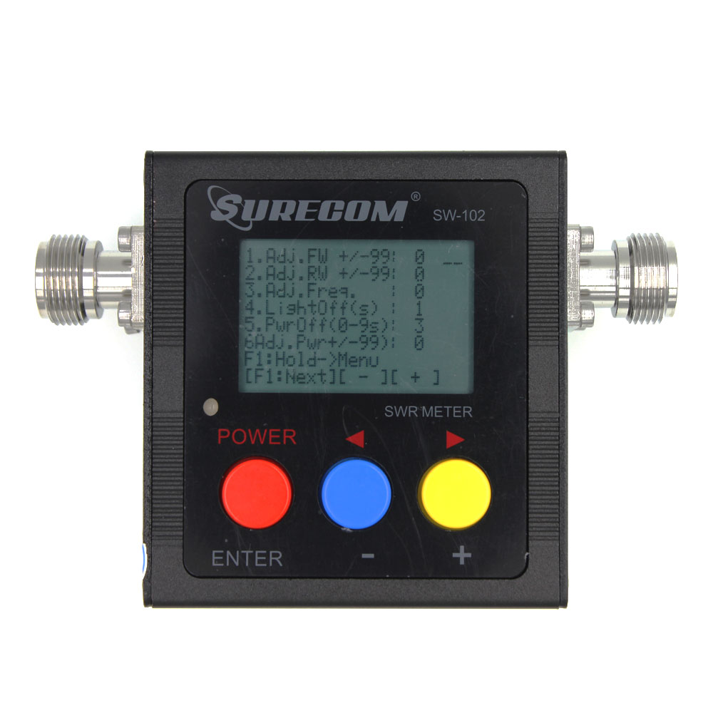 Upgrade Version SURECOM SW-102 Meter 125-520 Mhz  VHF / UHF Power & SWR Meter SW102 For Two Way Radio Walkie Talkie