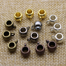 30pcs 4.5mm Hole, Spacer Beads for Jewelry Making Charm Bracelet Connectors Necklace Pendant Pinch Clips Bails DIY Findings