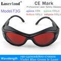 T3G 190-540nm 800-1100 УФ синий зеленый ИК лазерные защитные очки CE OD4 + OD5 +