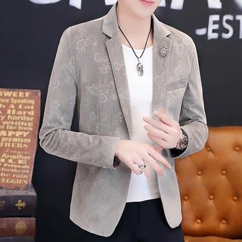 Pack Small Suit Coat Men Slim Fit 2020 Handsome Top Men's Wear Autumn Trend Suit