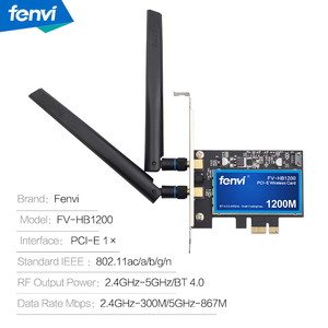 Image 5 - FV HB1200 سطح المكتب ماك هاكينتوش ثنائي النطاق 1200Mbps بلوتوث 4.0 PCI E لاسلكي واي فاي محول 802.11ac BCM94360CS2 واي فاي بطاقة