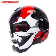 HEROBIKER Motorcycle Helmet Motorbike Full Face Helmet Moto Casco Riding Cruiser Chopper Cafe Racer Retro Capacetes
