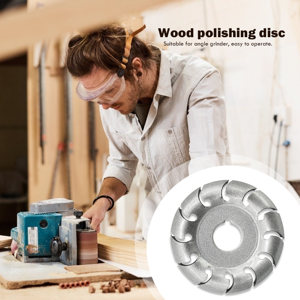 Circular Grinding Disc Wood Carving Cutter Disc Woodworking Angle Grinder Cutting Blades Milling Attachment Power Tools