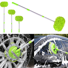 Adjustable Telescopic Car Wash Brush Kit Mop Long Handle Vehicle Cleaning Tool