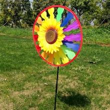 Whirligig ветер Спиннер домашний дворовый садовый Декор дети ребенок игрушка 1 Набор Рамадан фестиваль подарок красочная ветряная мельница в виде подсолнечника